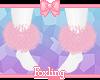 🎀 Fur anklets PINK