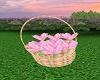 Basket Lt  Pink Flowers