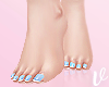 Real Feet Aqua Nails