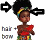 Kids Afrocentric afrobow
