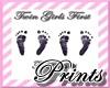 Twin Girls 1st Footprint