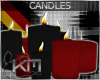 +KM+ Candles Blk/Red