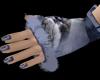 Blue Gloves+Nails