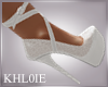 K summer white heels