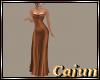 Bronze Satin Gown