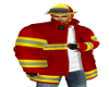 RED YELLOW FIRE COAT