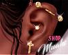 M! Pierced Up - Gold - L