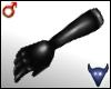 Black leather gloves (m)
