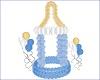 blue balloons bottle