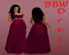 BBW Fushia gown