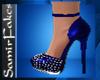 SF/Blue-silver Heels