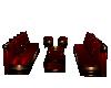 sofa set dark red