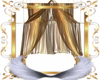 Golden Tent Drape