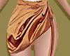 Burnt Orange Silk Skirt