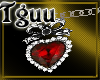 [TGUU] ankelet red heart