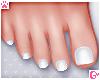 💗 Pedicure White