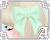 Lovely Ribbon Clip~ Mint