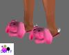 berry pink bunny slipper