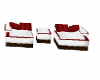 Comfy Chair Set w/red