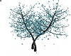 Teal Flower Tree