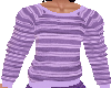 flat Purple stripe top