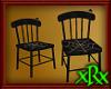 Wood Spider Chair Black