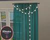ID: Zircon teal curtain