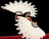 {EC} White Burlesque Fan