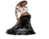Black Lace Vintage Skirt