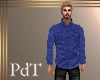 PdT DkBlue Linen Shirt M