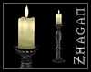[Z] Big Floor Candle wht