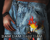 ⚕ Flames Skull ? jeans
