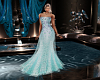 Bridesmaid Teal Gown