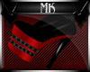 !Mk! Bat Boots Red Thin