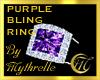 PURPLE BLING RING