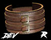 !D R Leather Cuff Brown