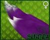 )S( Furry FOX Tail Purpl