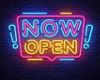 Neon Bar Now Open Sign