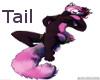 Pink Red Panda Tail