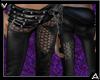 Leather Pants Spike Belt