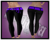 Black/Purp Leaf Pants RL