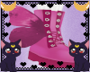 FOX Butterfly pink boots
