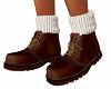 TF* Brown Boots w/ socks