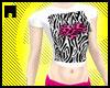 Zebra/Leo Heart Tshirt