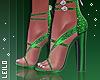 ! L! Green Glitter Heels