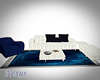 Blue and White Sofa Set