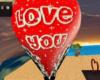 i love u hot air balloon