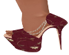 2A-Chic Burgundy Heels