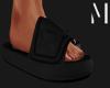 T+M | Black Nylon Slides
