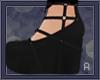|A| Black Doll Shoes
